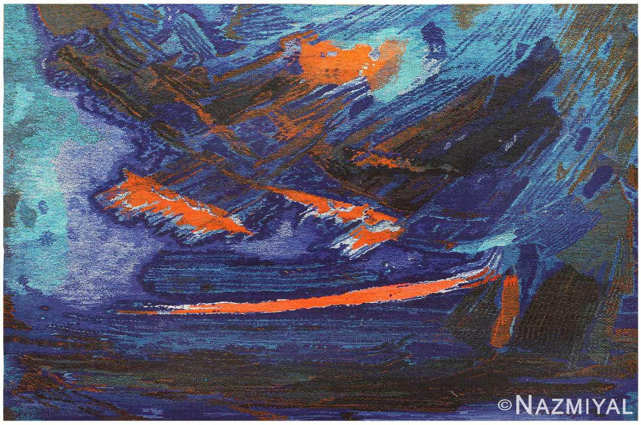 Vintage 1975 Scandinavian Tapestry by Brita Molin 48514 Nazmiyal
