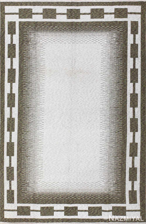 vintage double sided swedish kilim 48501 Nazmiyal