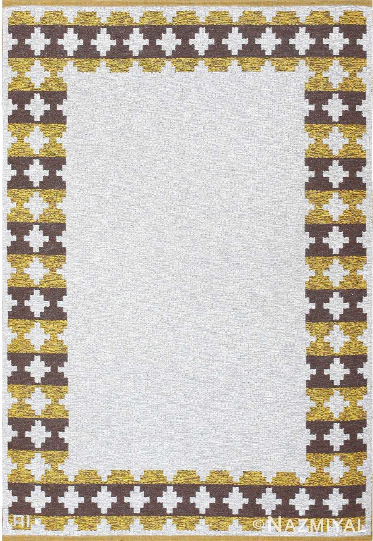 vintage double sided swedish kilim 48503 Nazmiyal