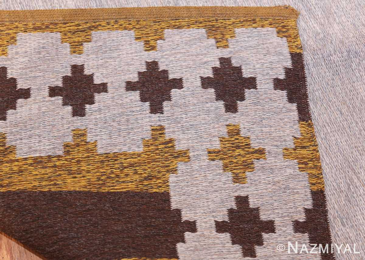 Vintage Double Sided Swedish Kilim 48503 Silver Back Nazmiyal