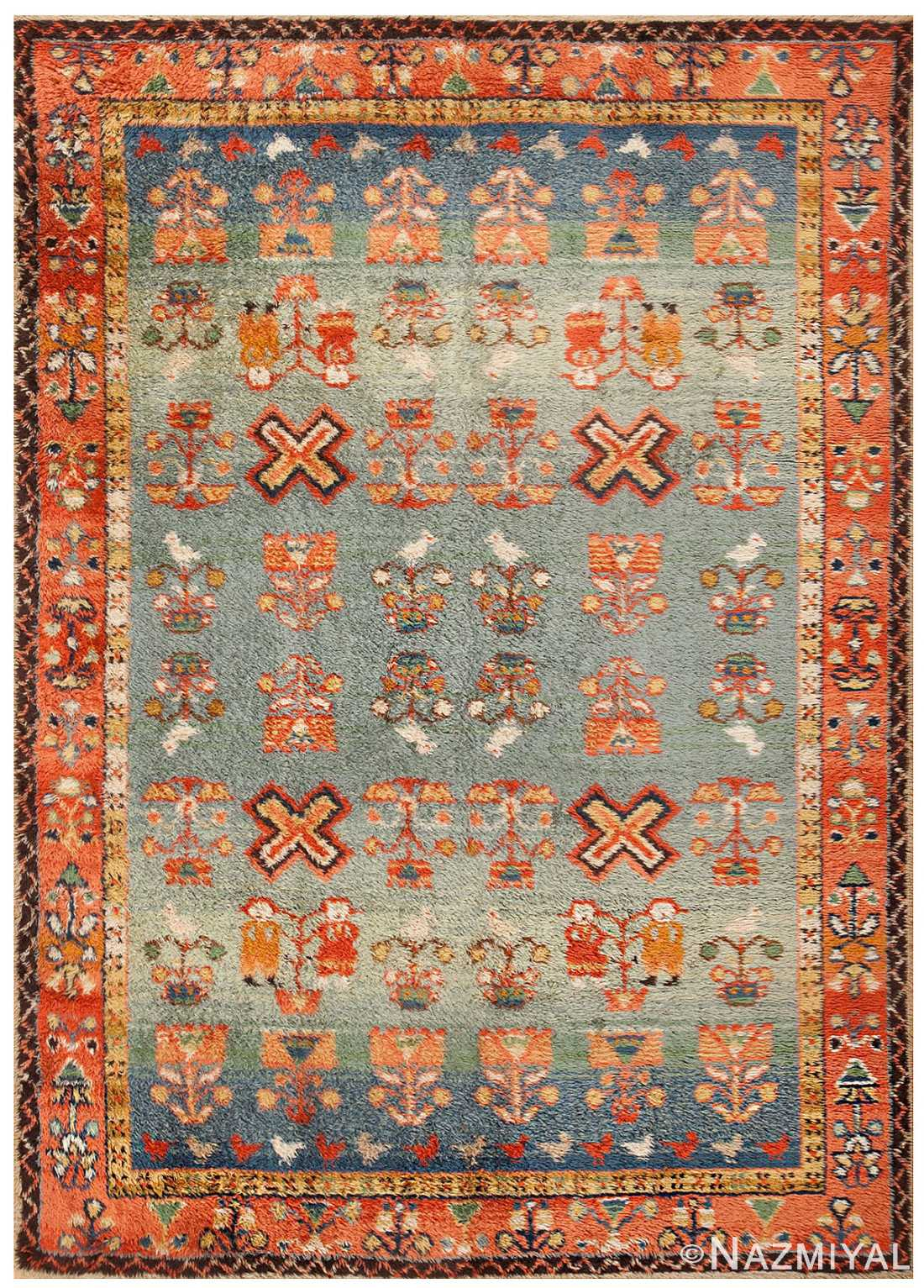Vintage German Shag Rug 48556 By Nazmiyal Antique Rugs