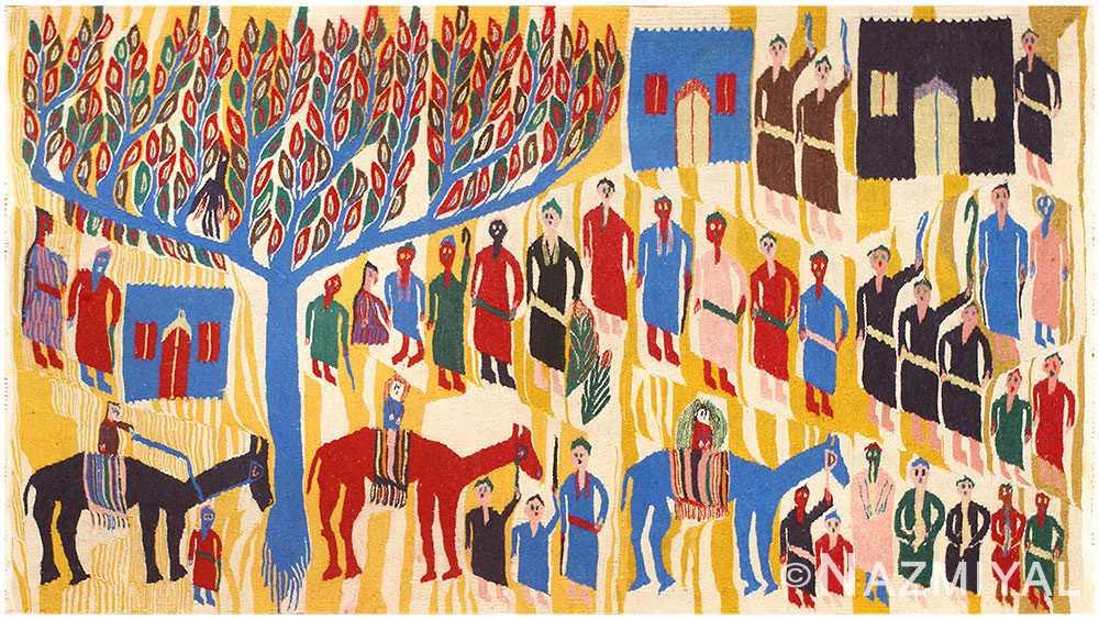 Vintage Israeli Tapestry 48551
