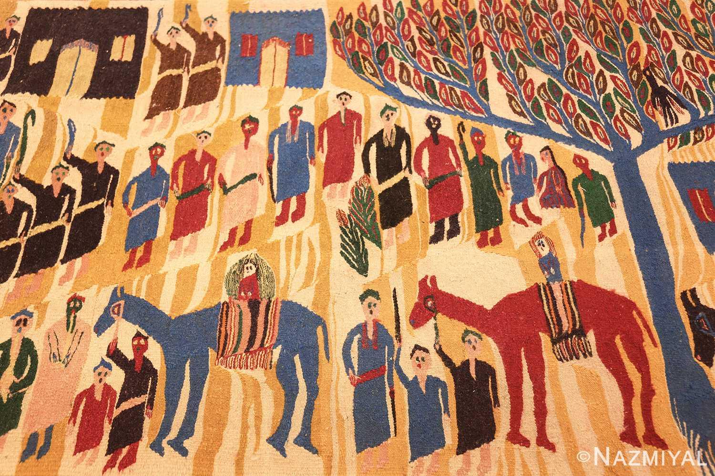 vintage judaic purim scene tapestry 48551 field Nazmiyal