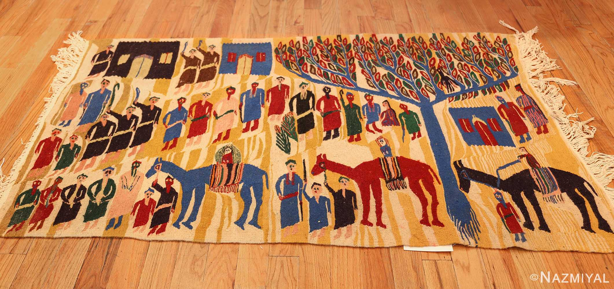 vintage judaic purim scene tapestry 48551 horizontal Nazmiyal