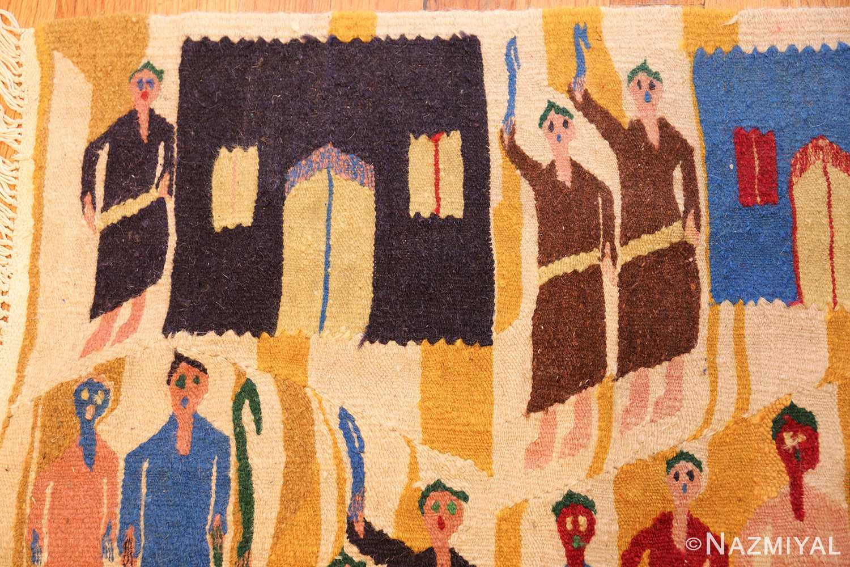 vintage judaic purim scene tapestry 48551 men Nazmiyal