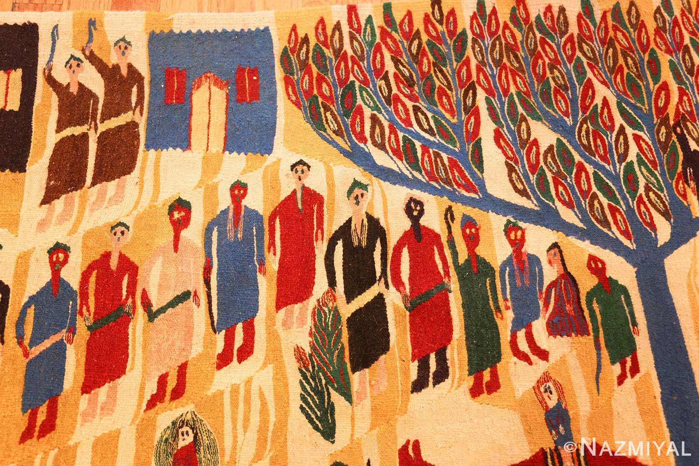 vintage judaic purim scene tapestry 48551 people Nazmiyal