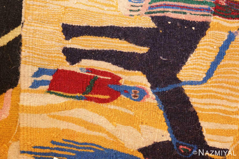 vintage judaic purim scene tapestry 48551 weave Nazmiyal