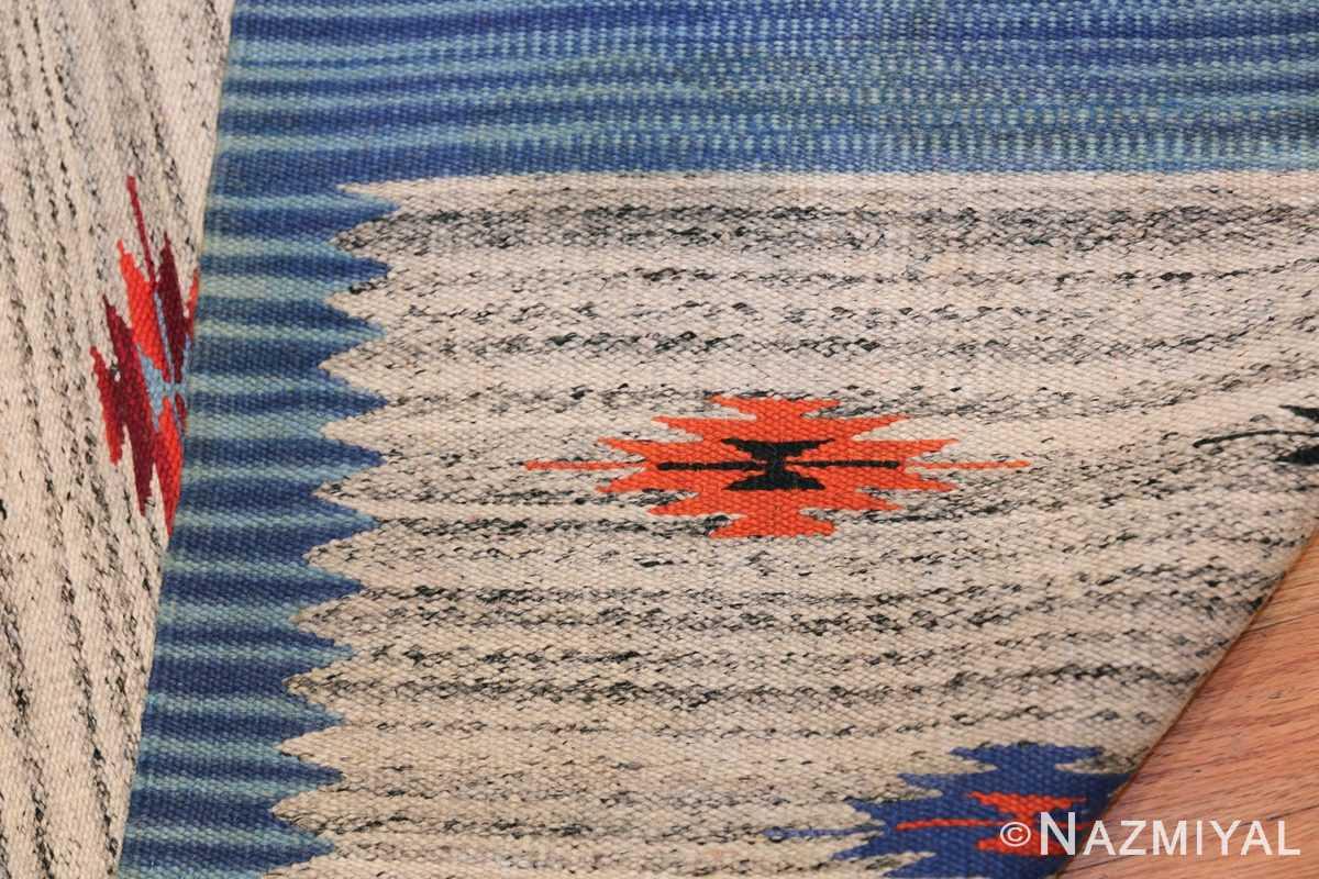 Vintage Mid Century Swedish Kilim 48472 Knots Nazmiyal