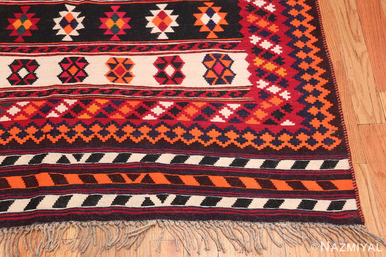 Vintage Persian Ghashgai Rug 50320 Side Corner Nazmiyal