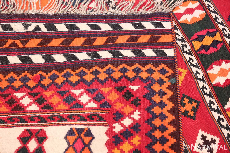 Vintage Persian Ghashgai Rug 50320 Woven Knots Nazmiyal