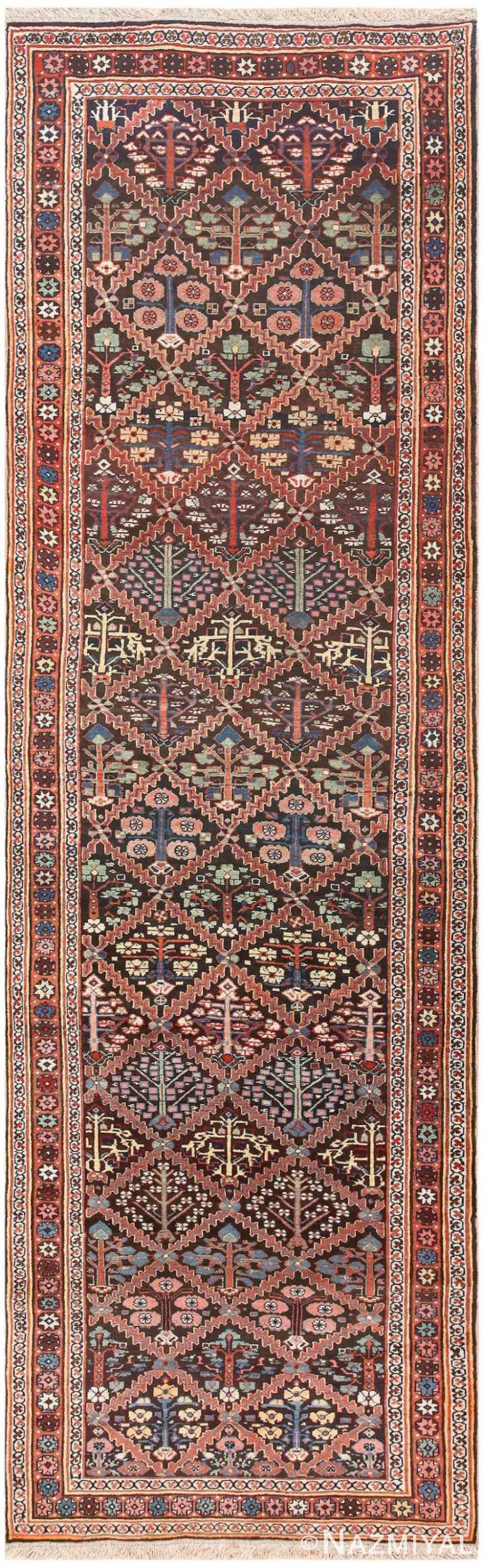 Vintage Persian Shrub Design Bidjar Carpet 50267 Nazmiyal