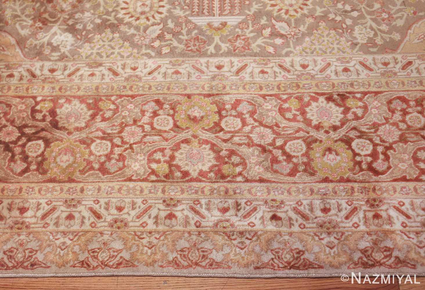 vintage room sized persian tabriz carpet 50259 border Nazmiyal