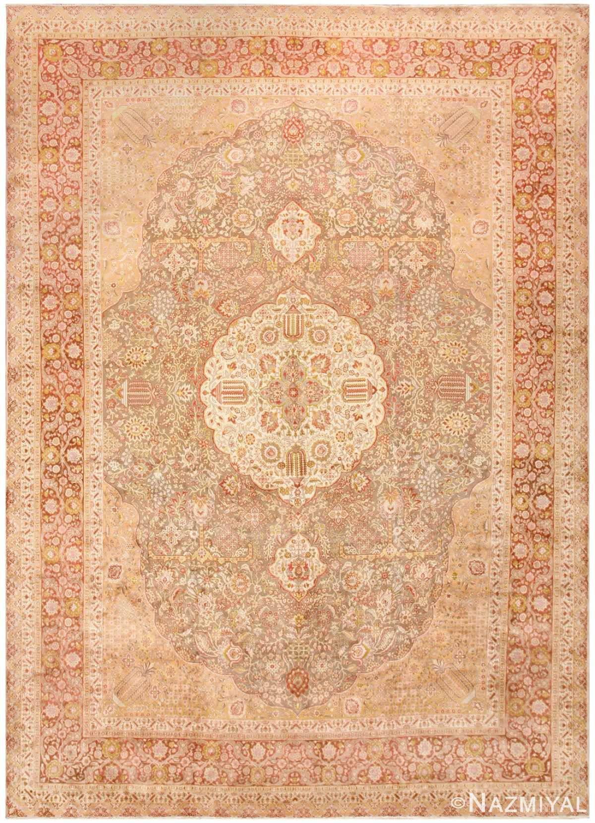 Vintage Room Sized Persian Tabriz Carpet 50259 Nazmiyal