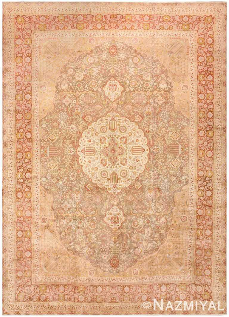 Vintage Room Sized Persian Tabriz Carpet 50259 Nazmiyal