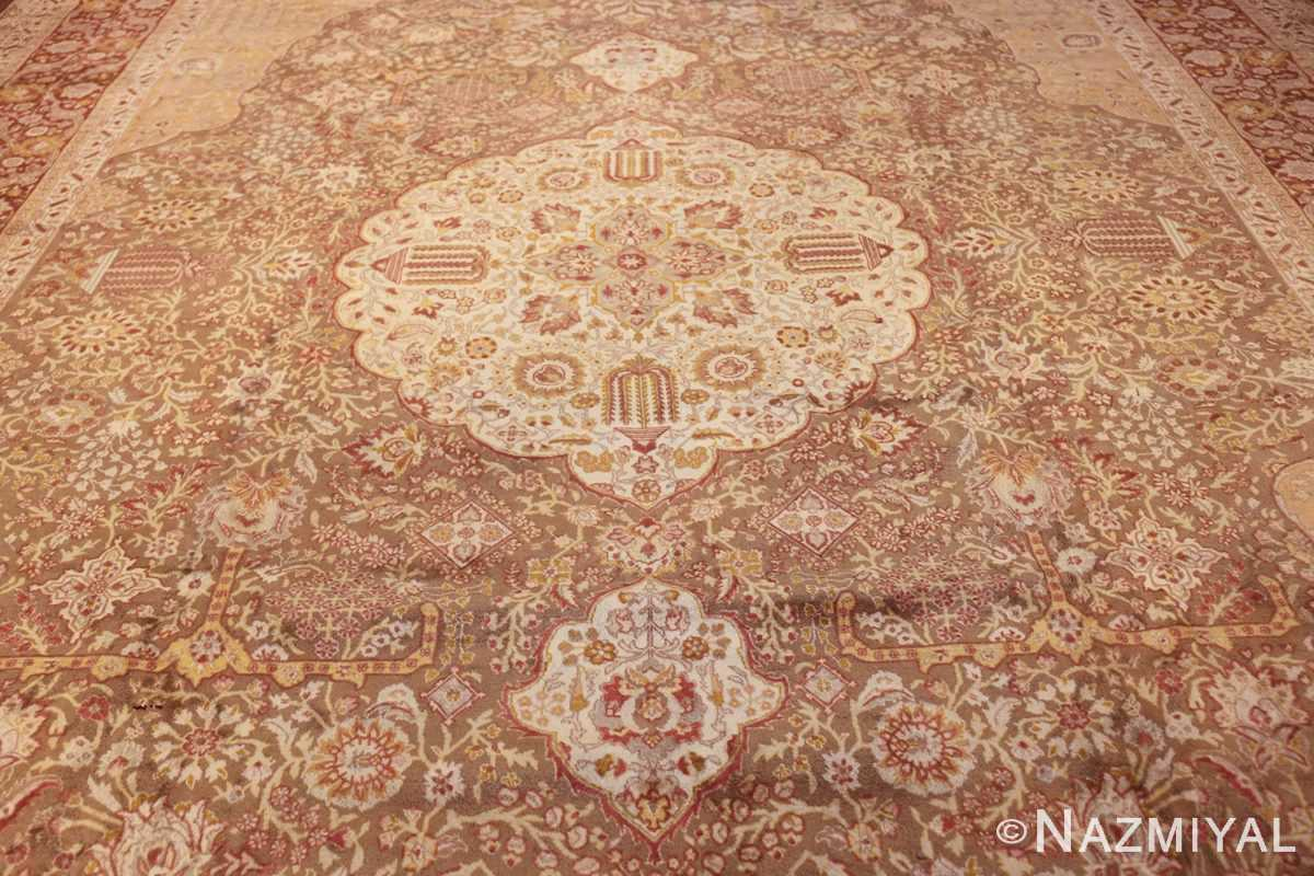 vintage room sized persian tabriz carpet 50259 field Nazmiyal