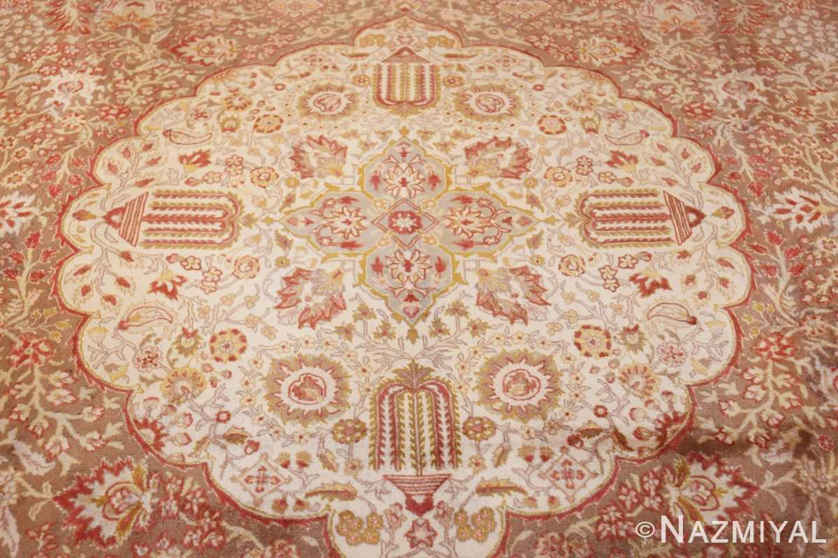 vintage room sized persian tabriz carpet 50259 medallion Nazmiyal