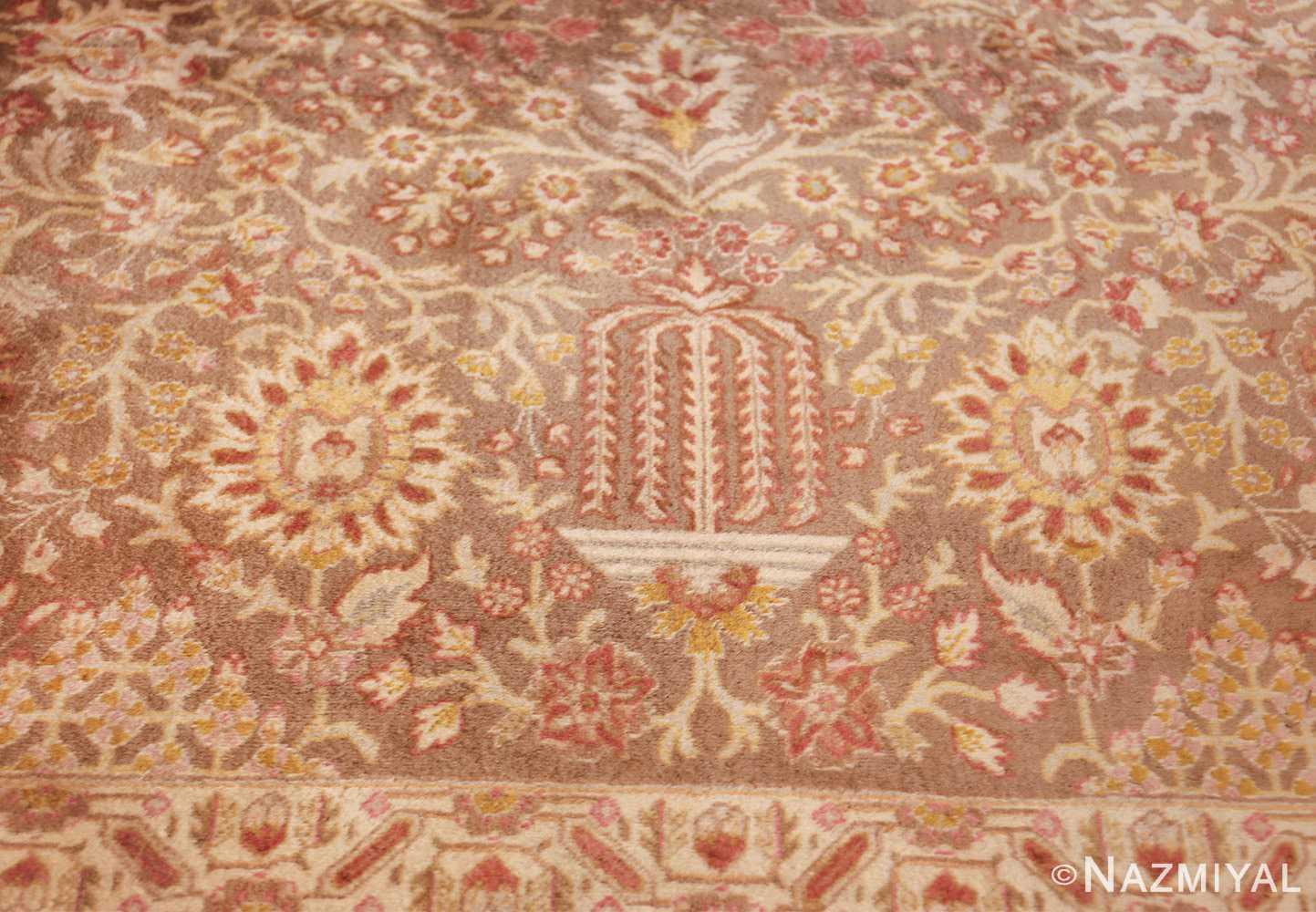 vintage room sized persian tabriz carpet 50259 vase Nazmiyal