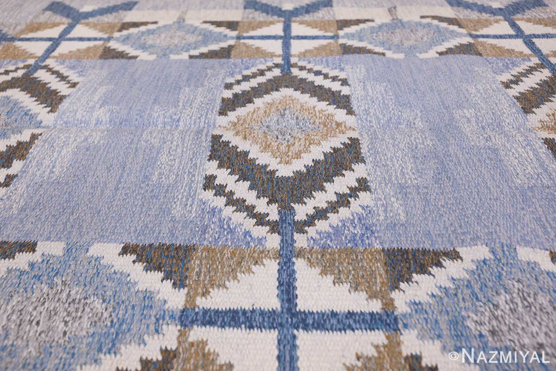 Vintage Scandinavian Kilim by Ingegerd Silow 48541 Field Design Nazmiyal