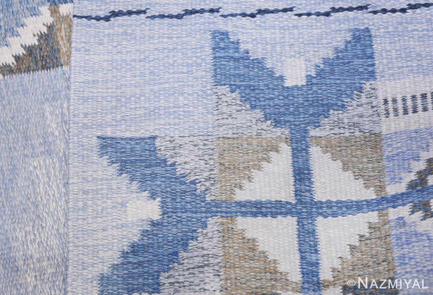 Vintage Scandinavian Kilim by Ingegerd Silow 48541 Knots Flat Woven Nazmiyal