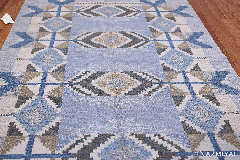 Vintage Scandinavian Kilim by Ingegerd Silow 48541 Pattern Nazmiyal