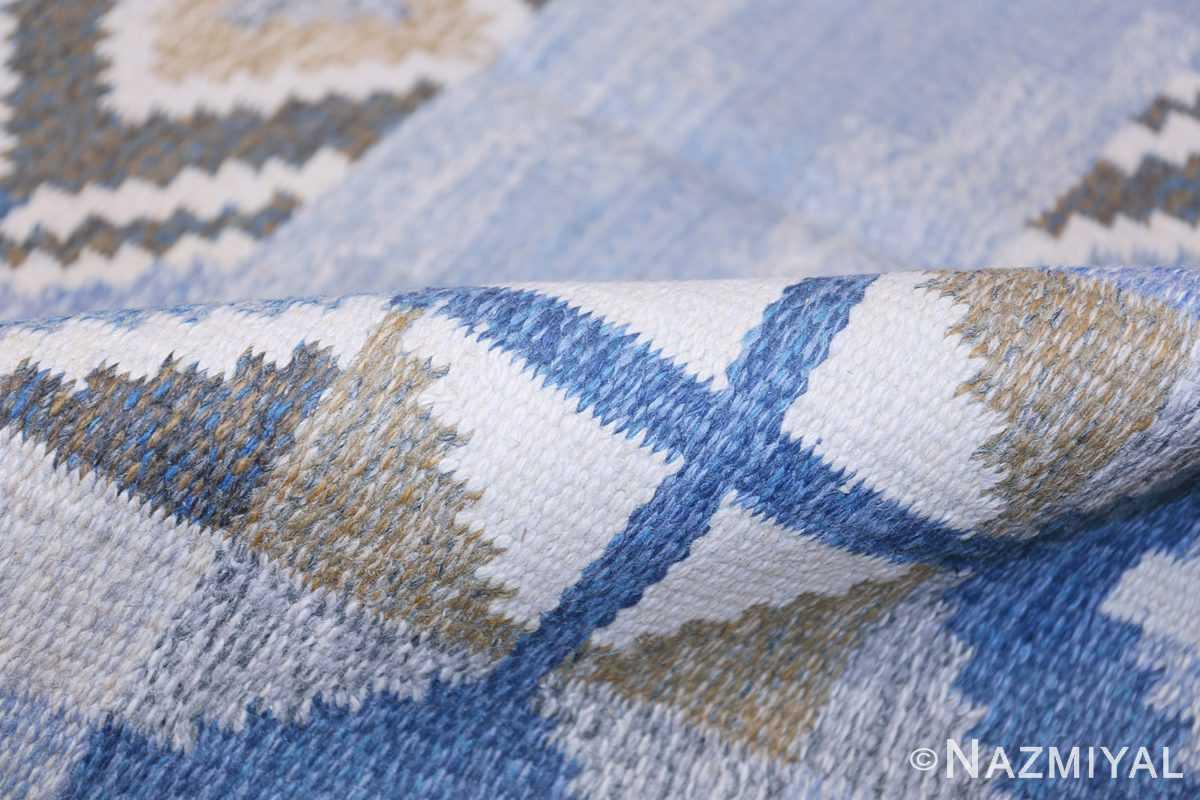 Vintage Scandinavian Kilim by Ingegerd Silow 48541 Pile Design Nazmiyal
