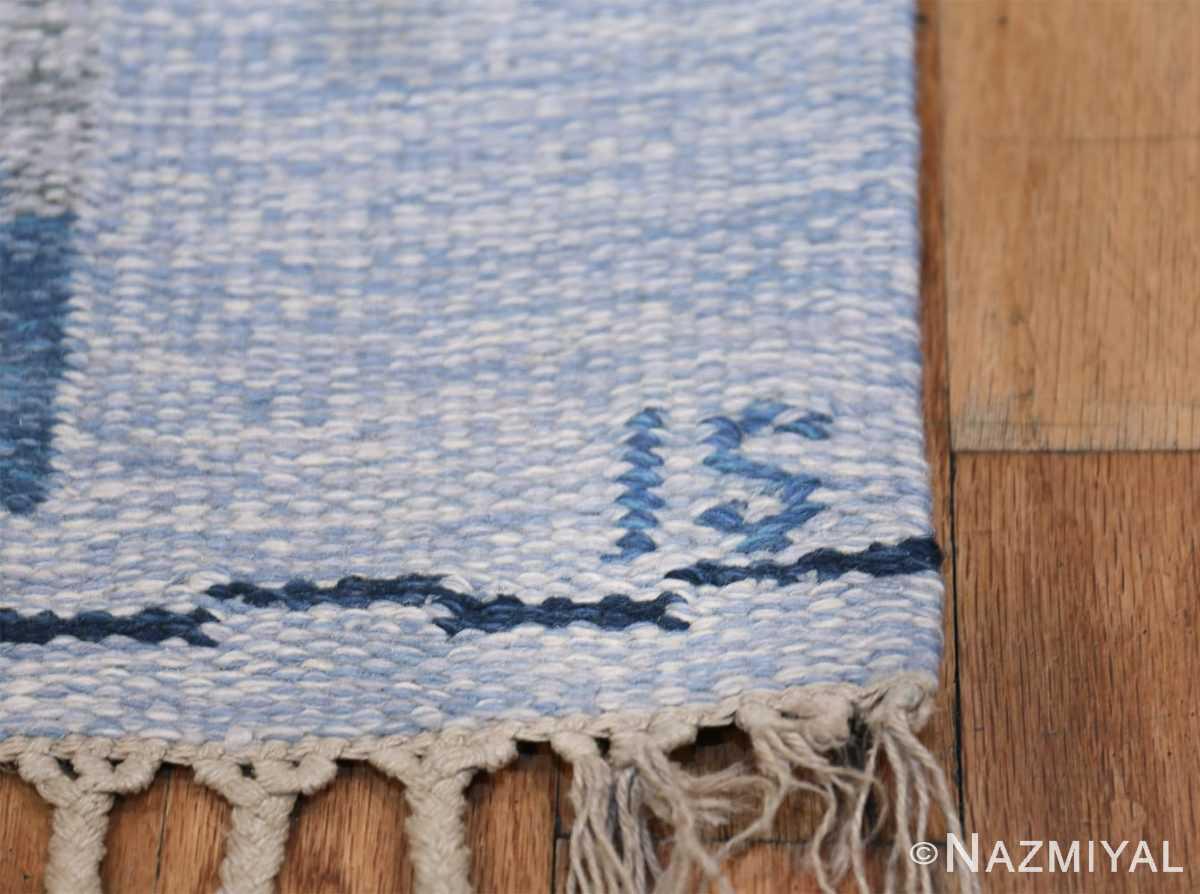 Vintage Scandinavian Kilim by Ingegerd Silow 48541 Signature Initials Nazmiyal