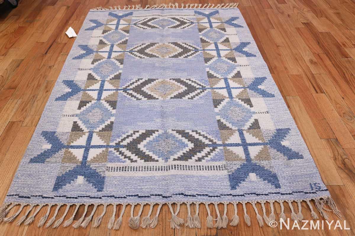 Vintage Scandinavian Kilim by Ingegerd Silow 48541 Whole Design Nazmiyal
