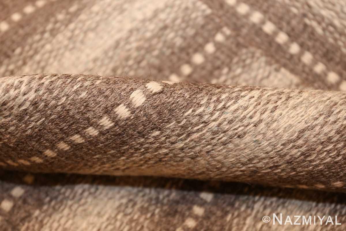 vintage scandinavian swedish kilim 48509 pile Nazmiyal