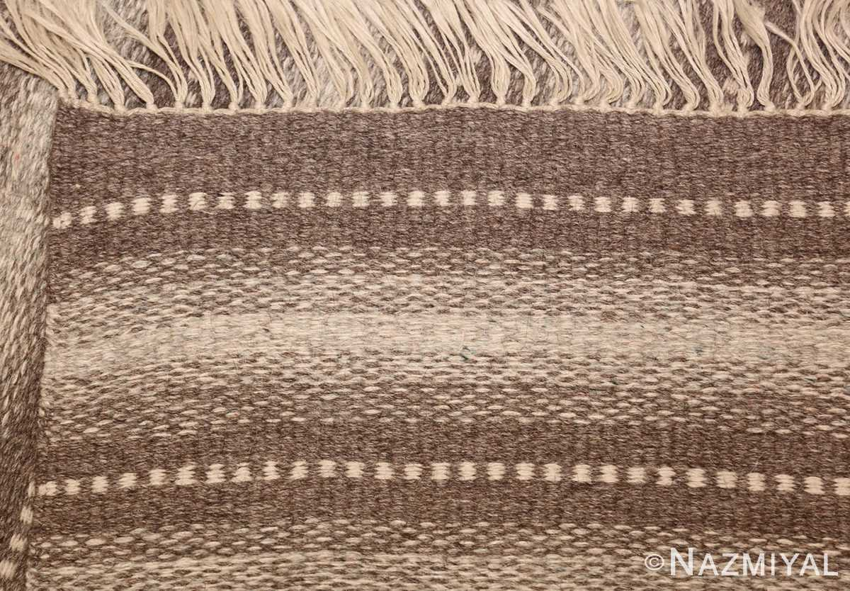 vintage scandinavian swedish kilim 48509 weave Nazmiyal