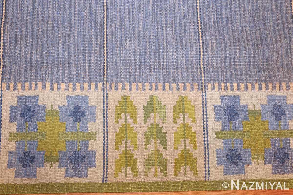 vintage swedish kilim by berit woelfer 48510 border Nazmiyal