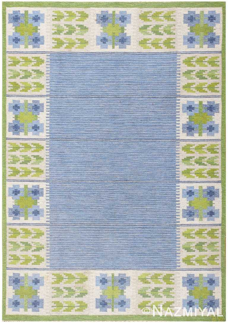 Vintage Swedish Kilim by Berit Woelfer 48510