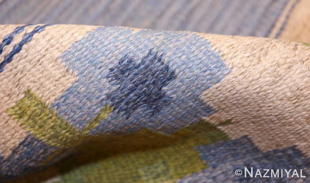 vintage swedish kilim by berit woelfer 48510 pile Nazmiyal