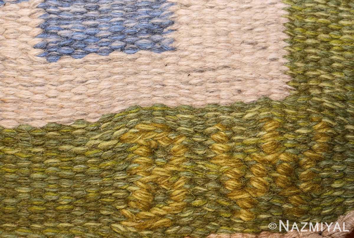 vintage swedish kilim by berit woelfer 48510 signature Nazmiyal
