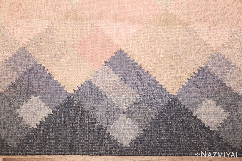 vintage swedish kilim by britta swefors 48507 border Nazmiyal