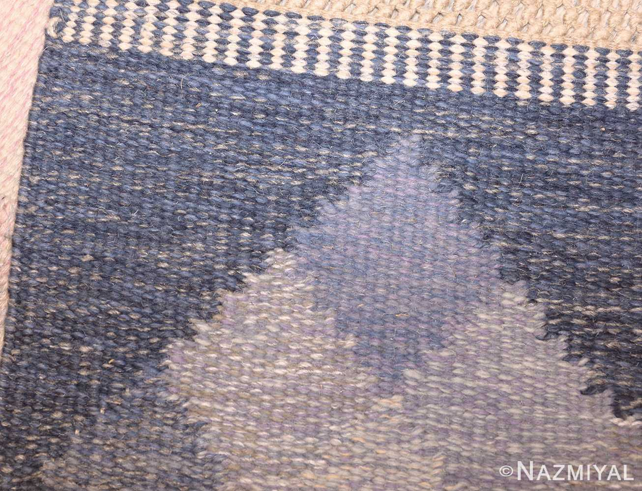 vintage swedish kilim by britta swefors 48507 weave Nazmiyal