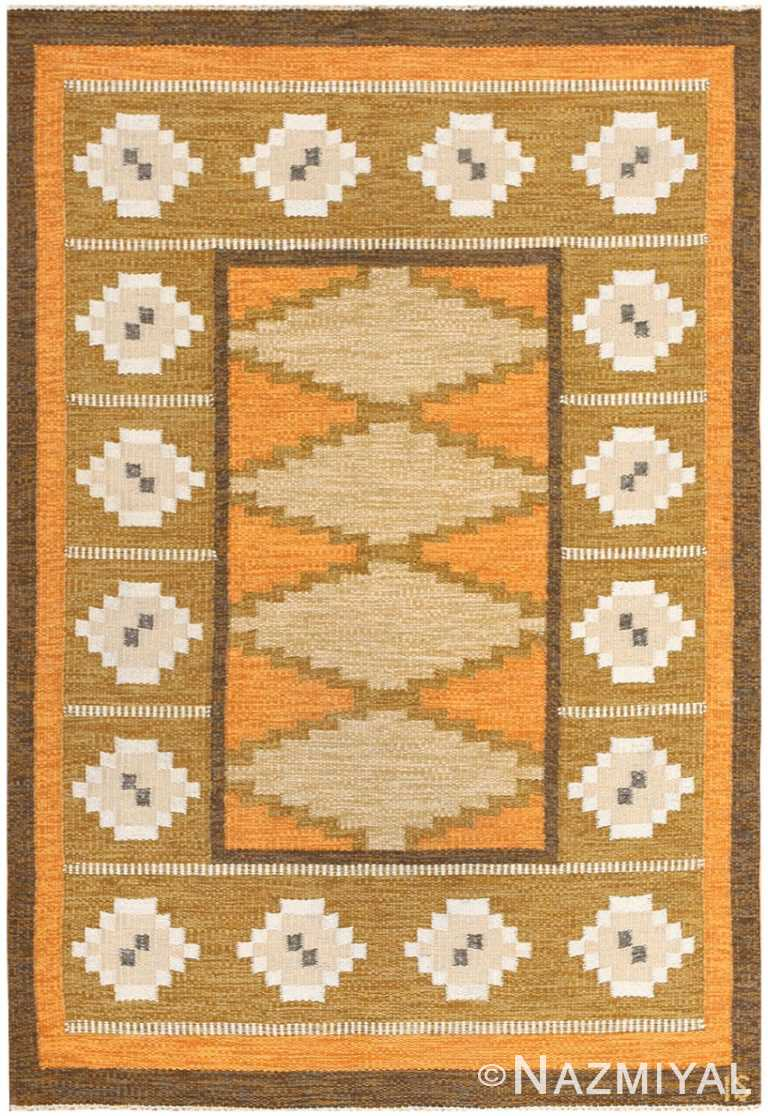 Vintage Swedish Kilim by Ingegerd Silow 48511