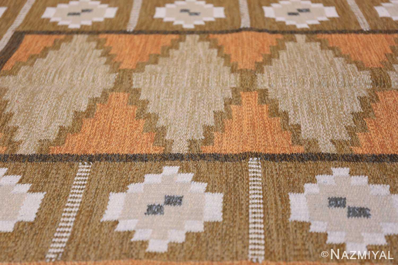 Vintage Swedish Kilim by Ingegerd Silow 48511 Field Nazmiyal