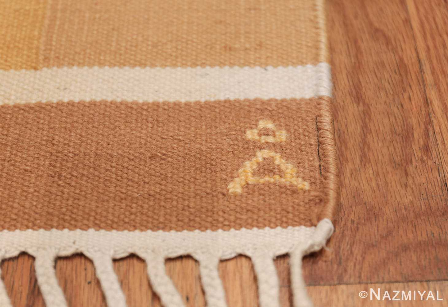 Vintage Swedish Rug by Anna Joanna Angstrom 48540 Initial Signature Nazmiyal