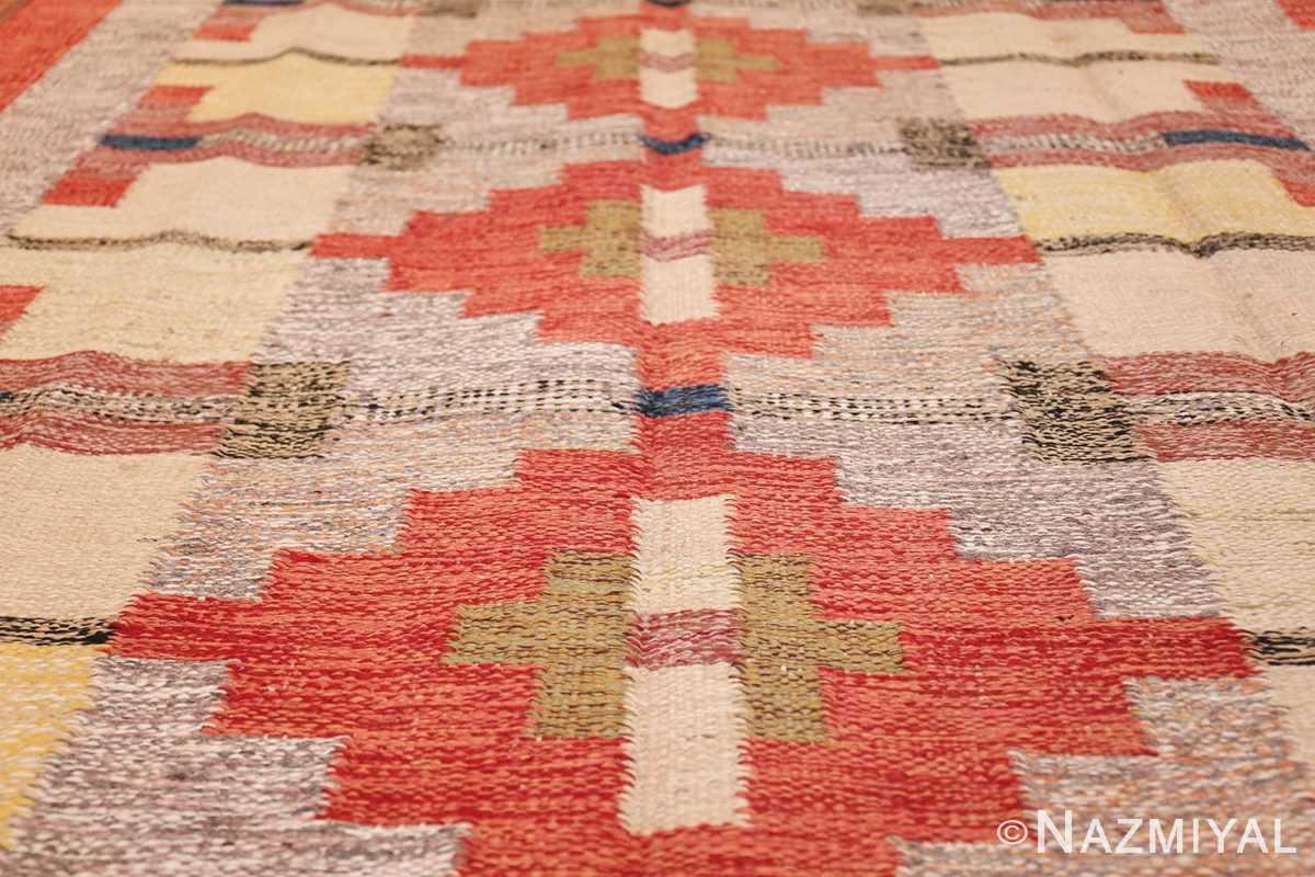vintage scandinavian swedish kilim 48498 field Nazmiyal