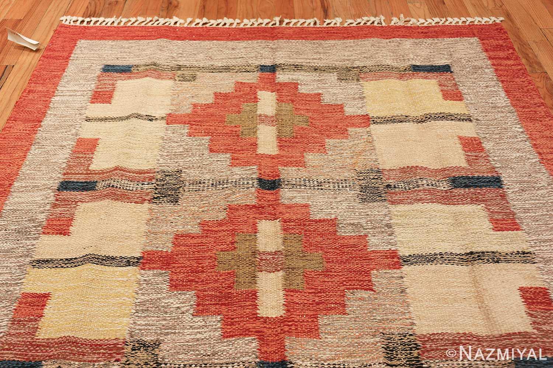 vintage scandinavian swedish kilim 48498 top Nazmiyal