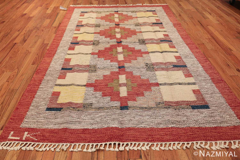 vintage scandinavian swedish kilim 48498 whole Nazmiyal