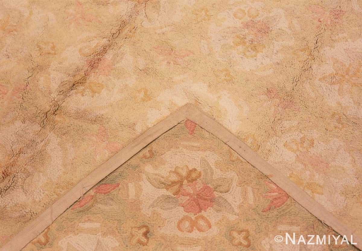 Weave Antique floral design American hooked rug 50298 by Nazmiyal Antique Rugs in NYC