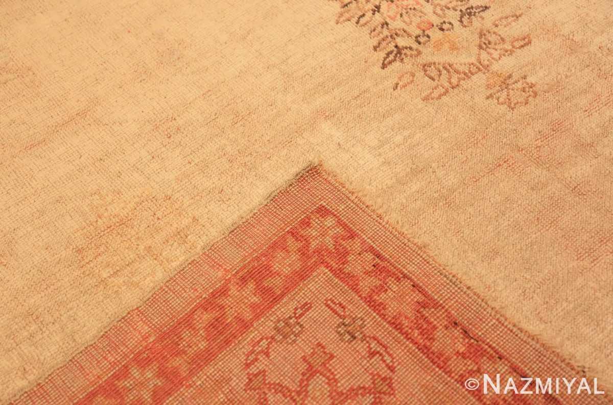 Weave Antique Oushak room sized Turkish rug 50299 by Nazmiyal