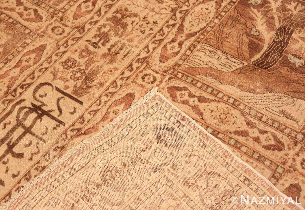 Weave Antique Tabriz garden design Persian rug 50258 by Nazmiyal