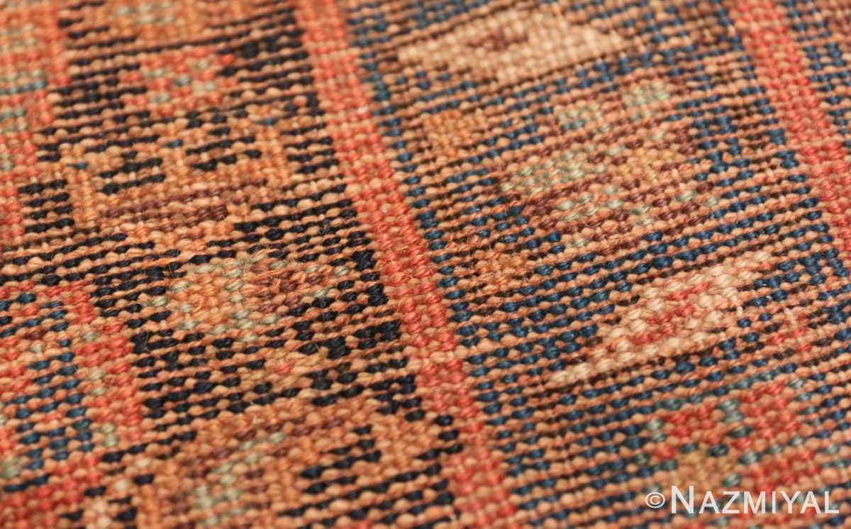 Weave detail Antique Bidjar Persian runner rug 50280 by Nazmiyal