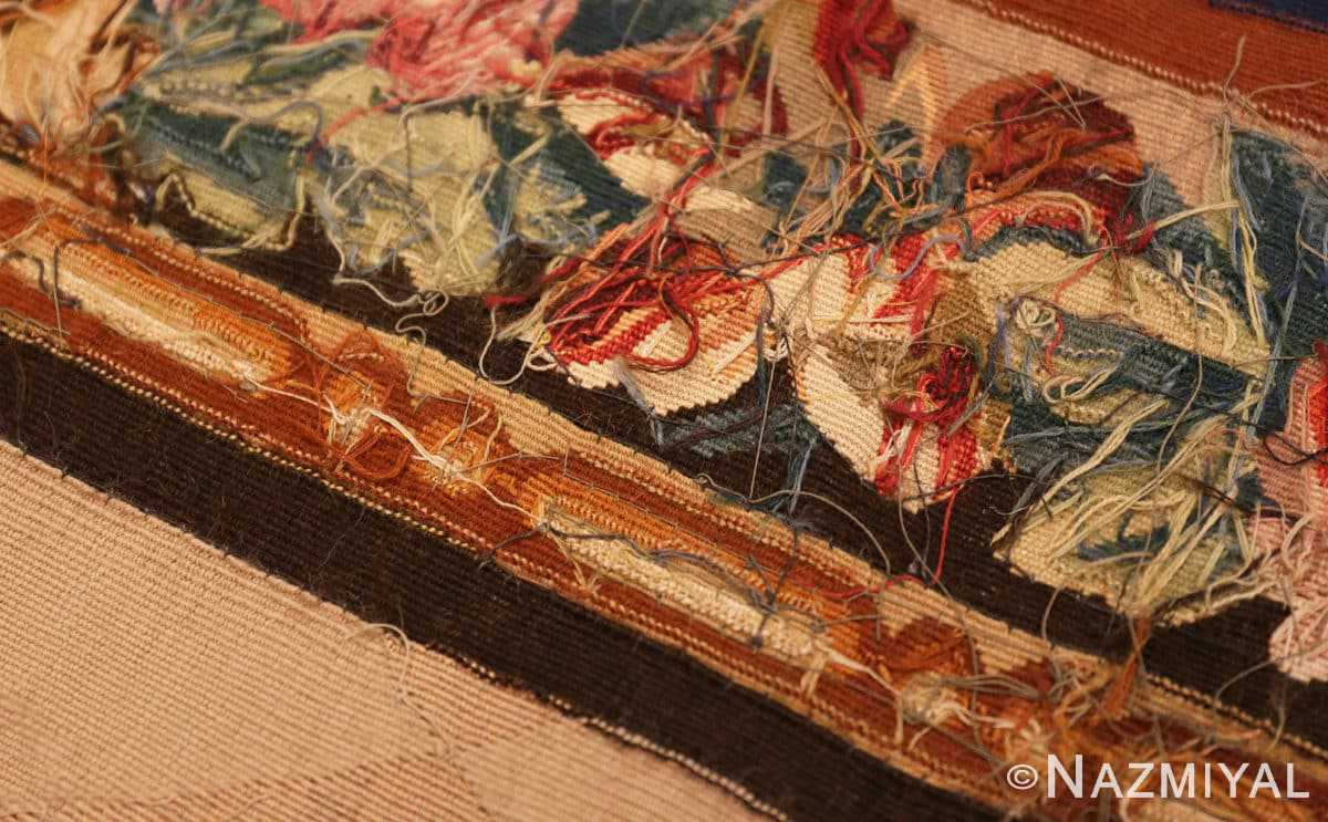 Weave detail Antique French tapestry rug 50270 by Nazmiyal
