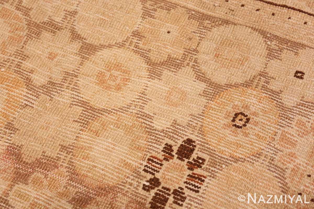 Weave detail Antique Khotan rug 50325 by Nazmiyal