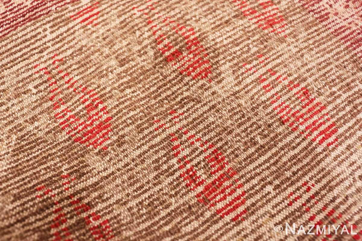 Weave detail Art Deco Turkish rug 50334 by Nazmiyal