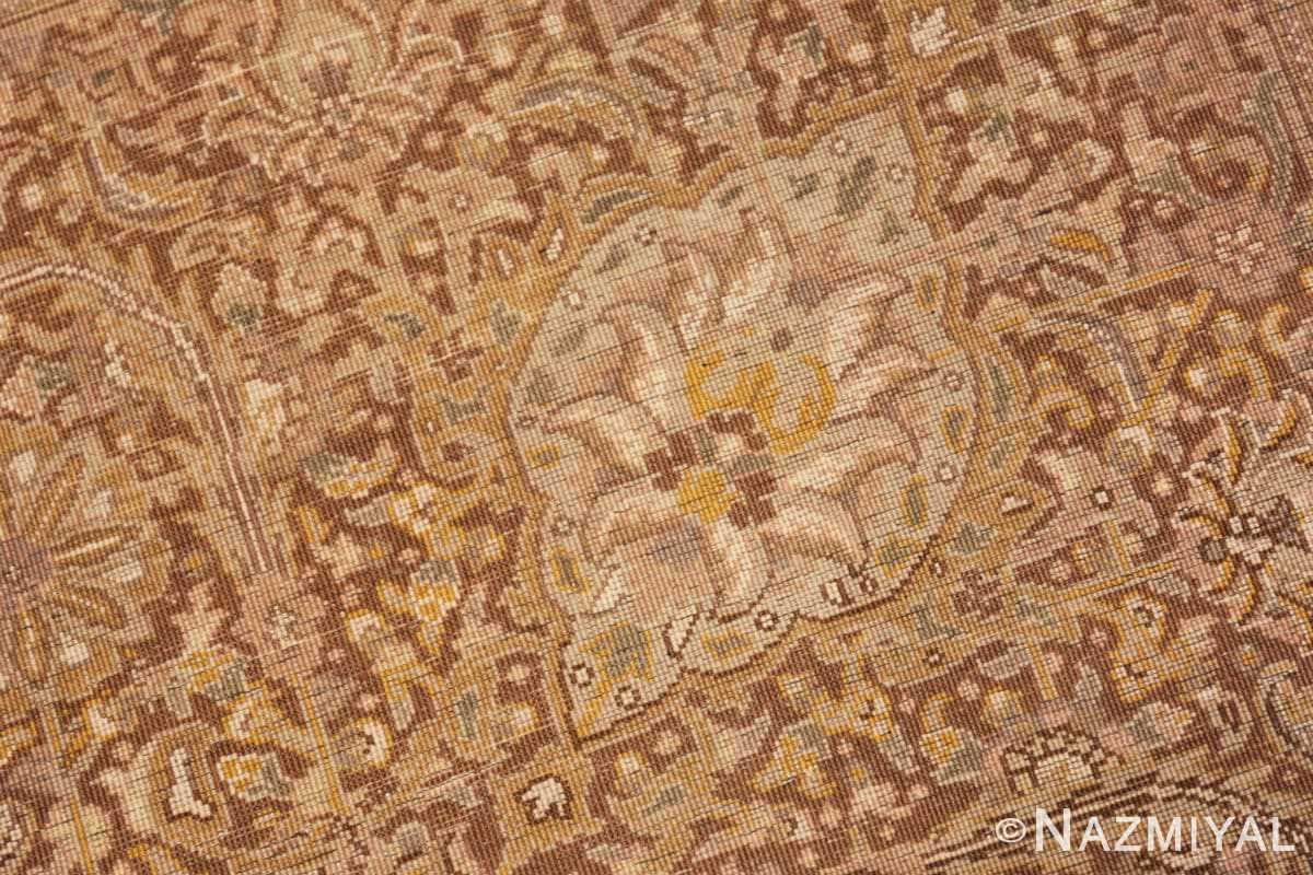 Weave detail Large Oversize Persian Tabriz rug 50317 by Nazmiyal
