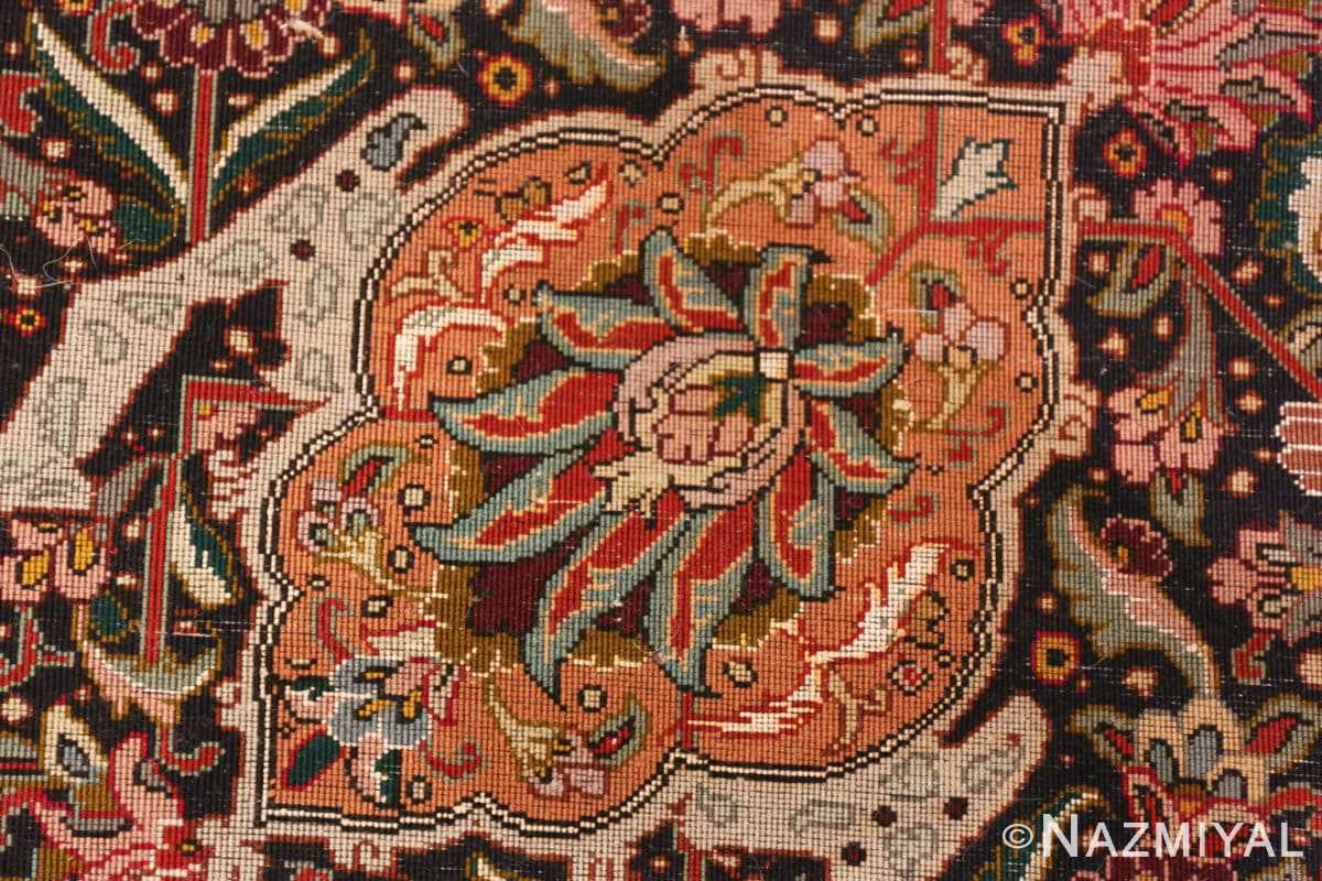 Weave detail Large Vintage Persian Tabriz rug 50316 by Nazmiyal